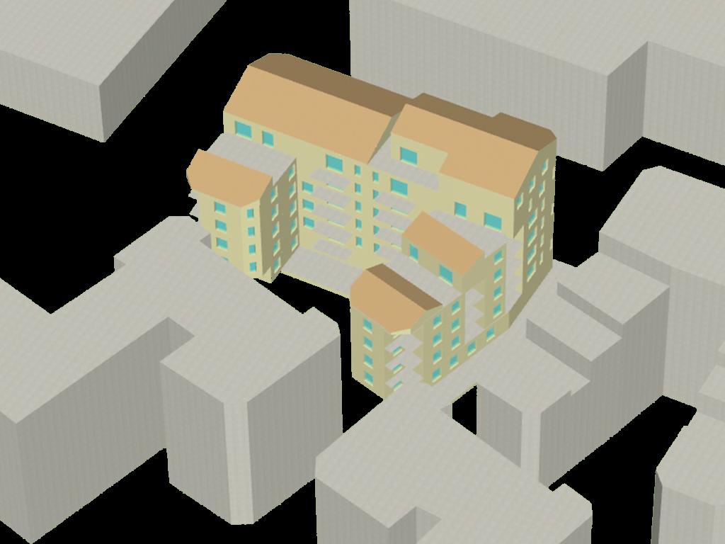 Modélisation du bâtiment et des masques